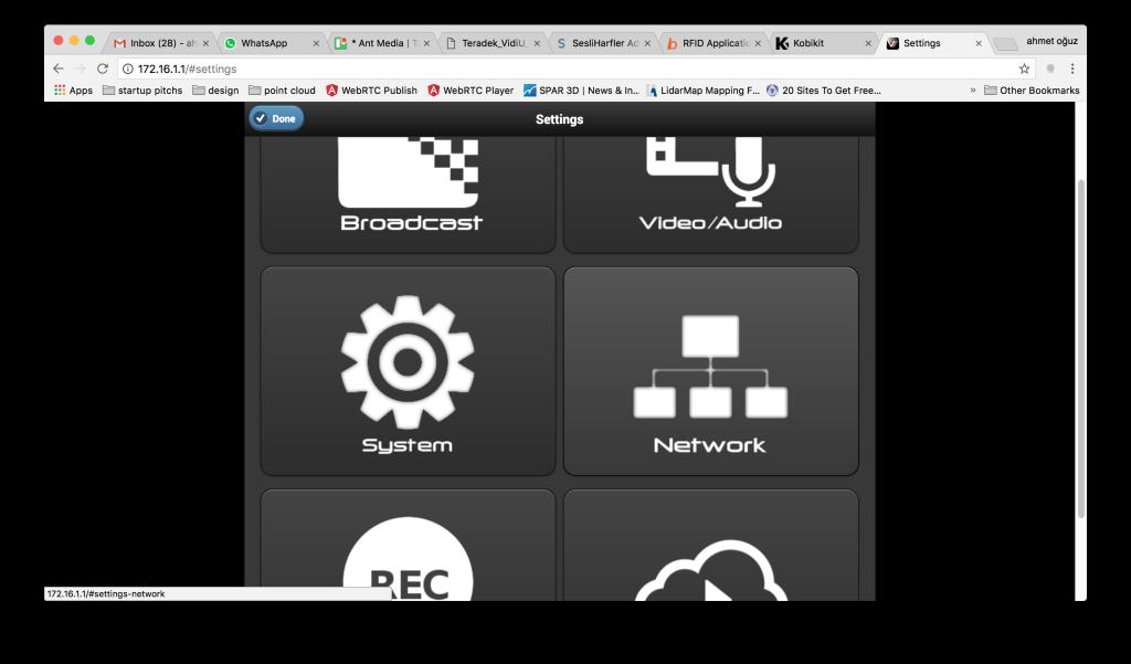Configure Network Settings of Teradek Vidiu