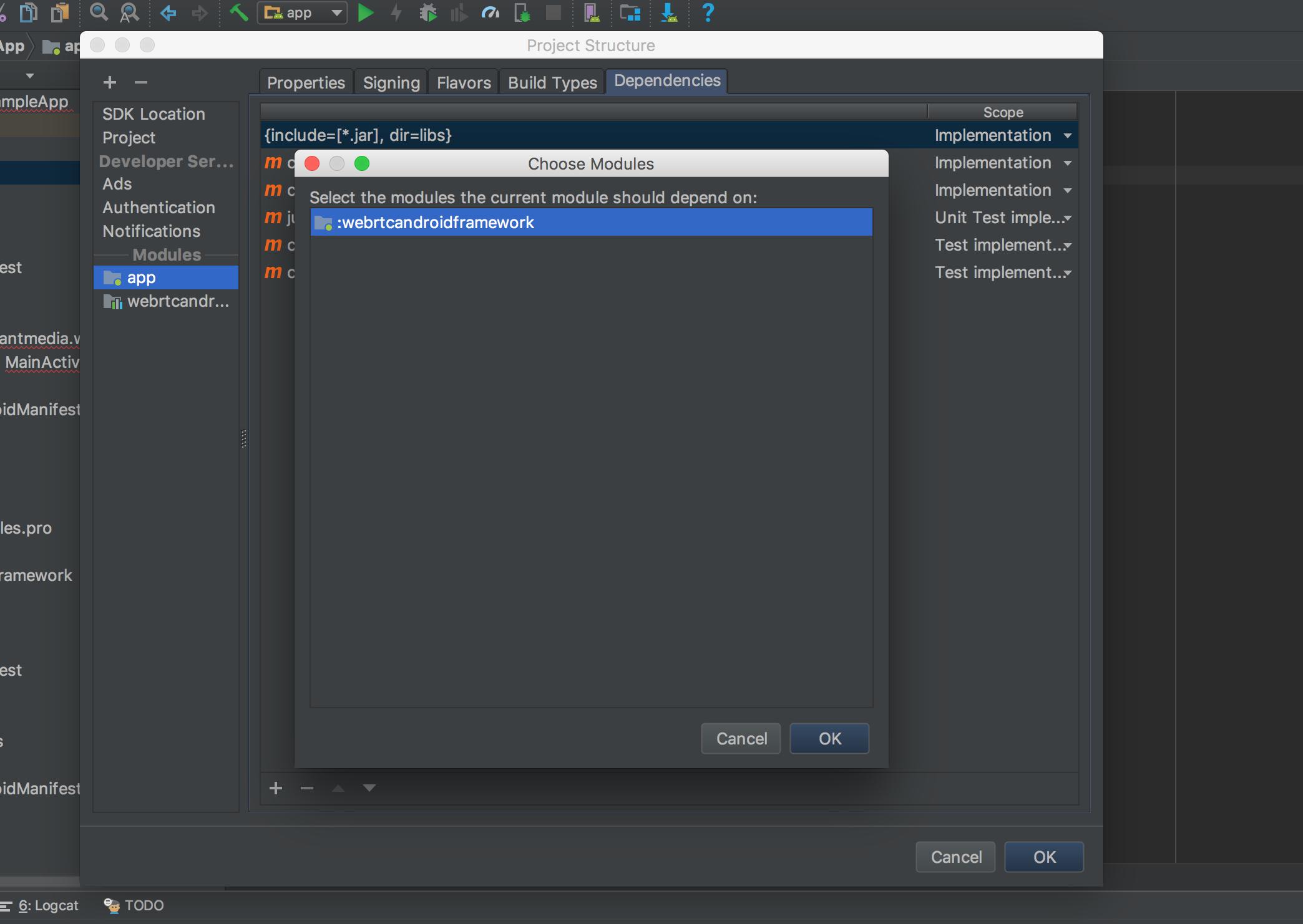 Native WebRTC Android SDK