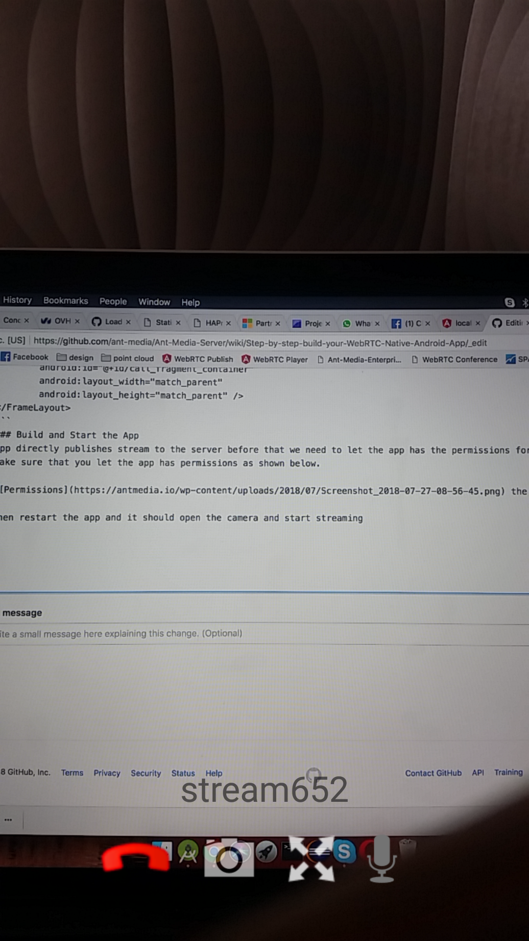 Publish with WebRTC