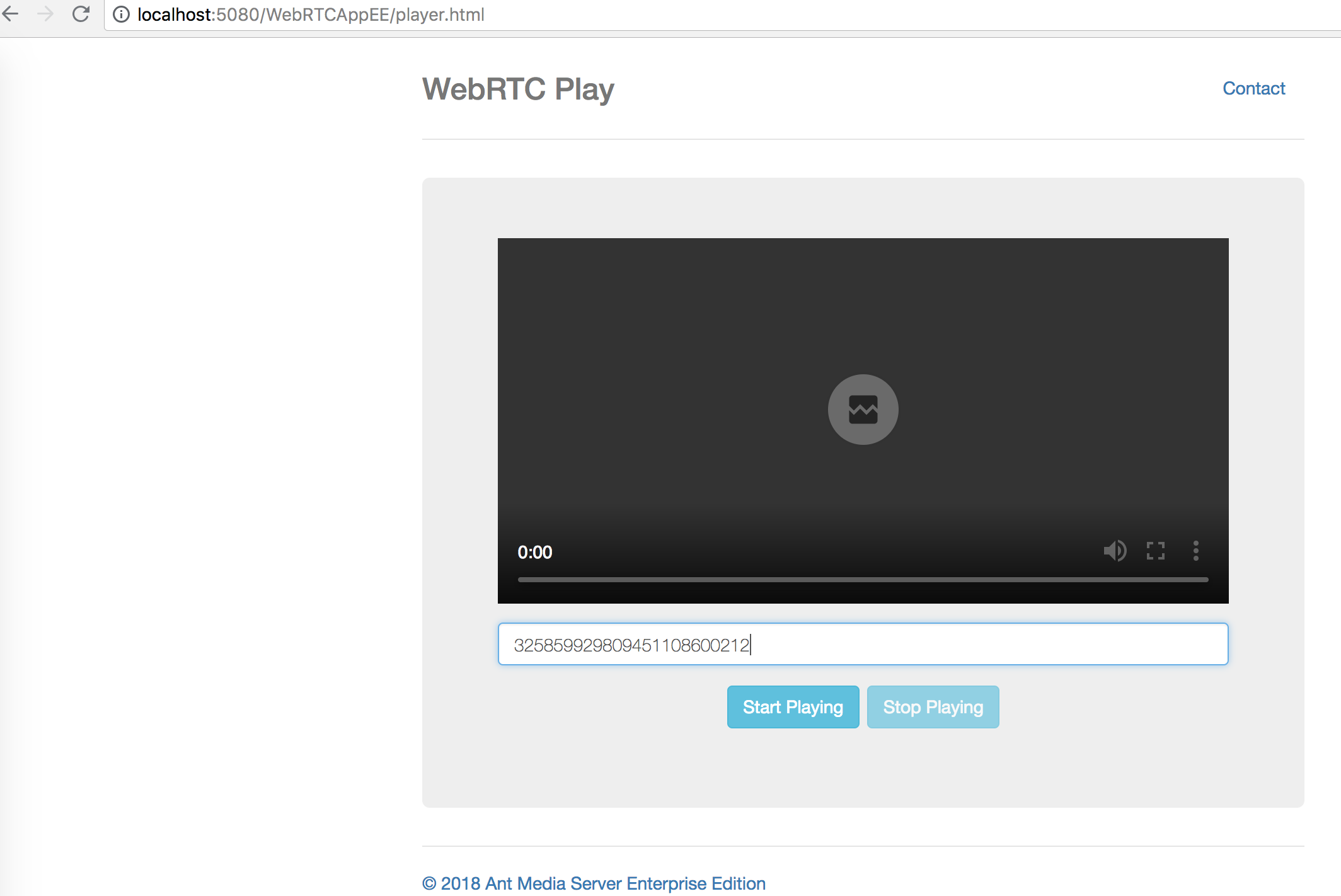 WebRTC replay from OBS hosted RTMP stream 1