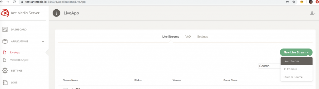 How to Live Stream with Wirecast using Ant Media Server in 4 Easy Steps 1