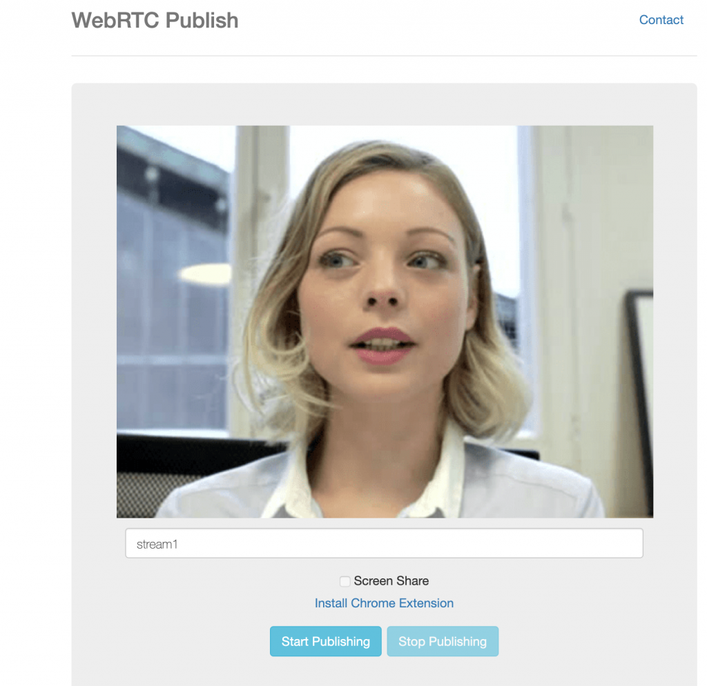 How to Embed WebRTC Publishing to a Web Site In 4 Easy Steps? 1